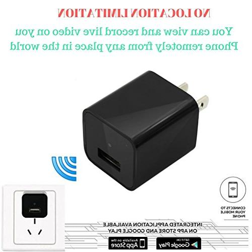 Heymoko Wi-Fi Charger Motion 1080P Wireless Indoor Baby Pet Real App Nanny Home