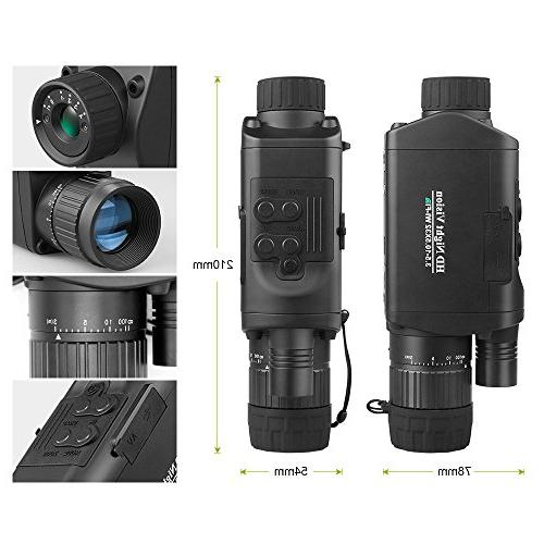 "Bestguarder Digital Night Vision Monocular with HD Infrared Camera & Camcorder 1150ft /350M Viewing 1.5"" TFT LCD for"