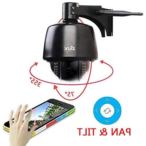 ZILINK WiFi Security Camera, Wireless Camera, Crystal HD 5X Optical Focus, Motion Vision, Pre-Installed 32GB Card,
