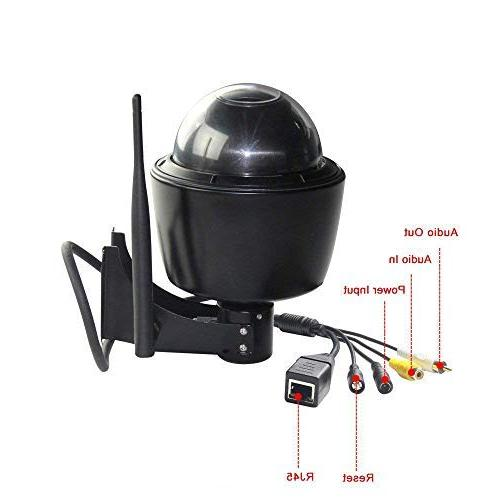 ZILINK WiFi Security Camera, Crystal HD 5X Optical Zoom, Focus, Night Vision, 32GB Memory Card,