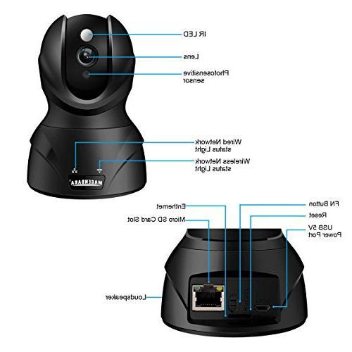 MAGENDAR HD Wifi Security Monitoring Camera cam Night Vision,Pan/Tilt, Storage
