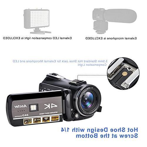 Ancter 4K Full Camcorders, HD Paranormal Investigation KK18