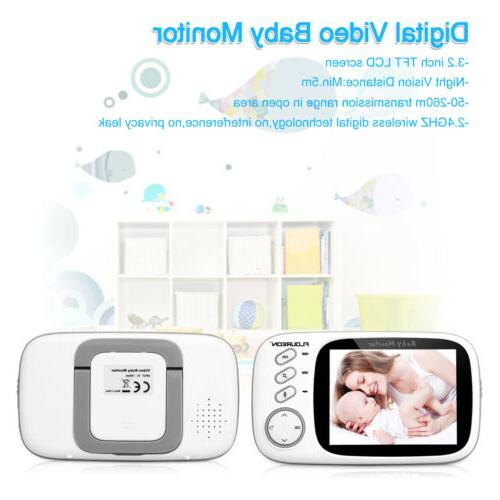 Wireless 2.4 Color Baby Monitor Camera Audio Video