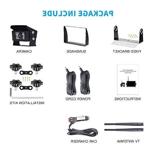 Digital Camera kit, Rear Waterproof IR Backup Cam Trucks/RV /Vans