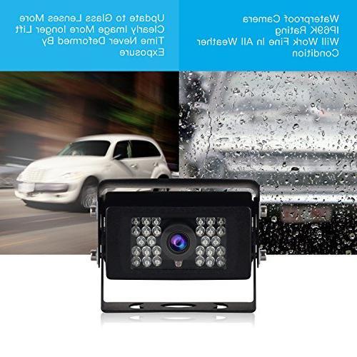 Digital Wireless kit, Rear Monitor, Waterproof IR Trucks/RV /Trailer/Pickups /Camper/Fifth /Vans