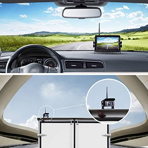 Digital Wireless Backup kit, LCD Rear Waterproof Vision Backup Trucks/RV /Trailer/Pickups /Camper/Fifth /Vans