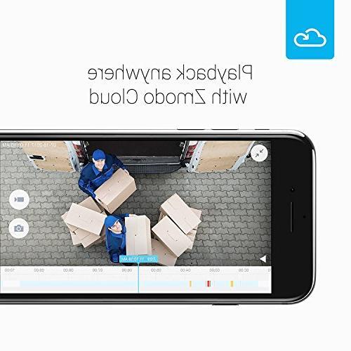 Zmodo Security Camera Cloud Storage All Inclusive Smart HD Cameras Night