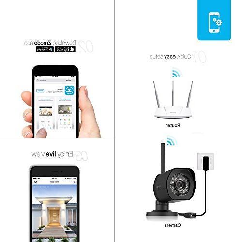 Zmodo Security Cloud Storage All Inclusive HD Outdoor Cameras Vision