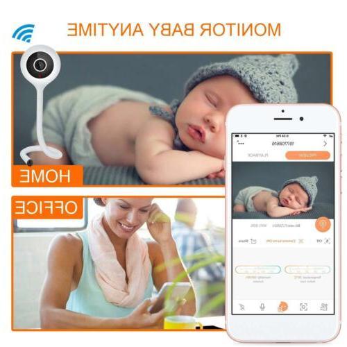 Wireless Camera Baby Monitor Detection 2 Audio Night Temperat