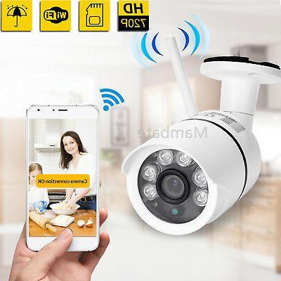 720P Outdoor Wireless WIFI IP Camera SD Slot Network Night V