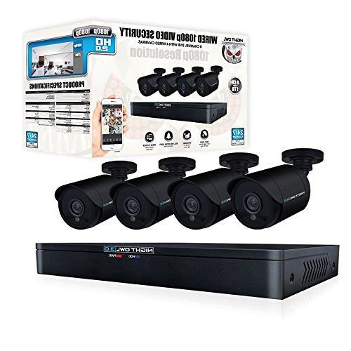 Night WM-841-2MP Channel HD Video DVR HDD 4 Cameras