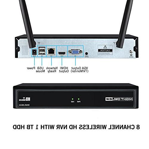Night Channel 1080p Security Hub with x IP and 1 TB HDD,