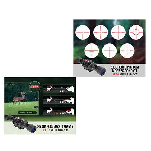 ATN X-Sight 3-14x Smart Day/Night Scope HD Video - DGWSXS314Z