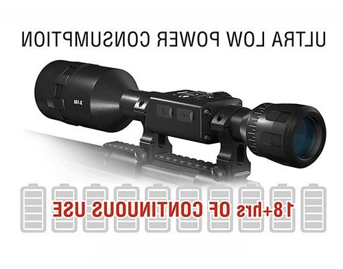 ATN X-Sight Pro Smart Rifle 5-20x - HD 4K Superb Optics, Full 18+ Battery, Ballistic Calculator, Apps