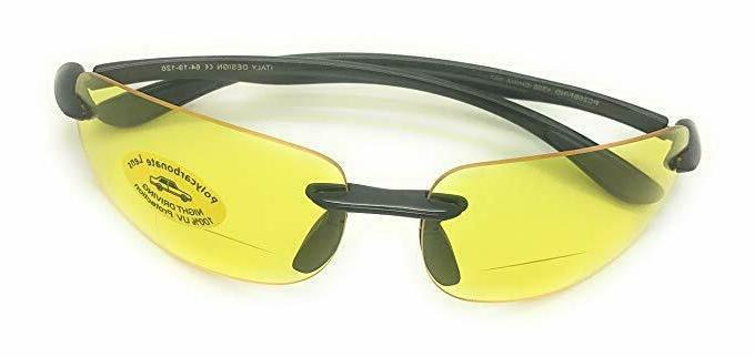 yellow lens night vision bifocal readers driving