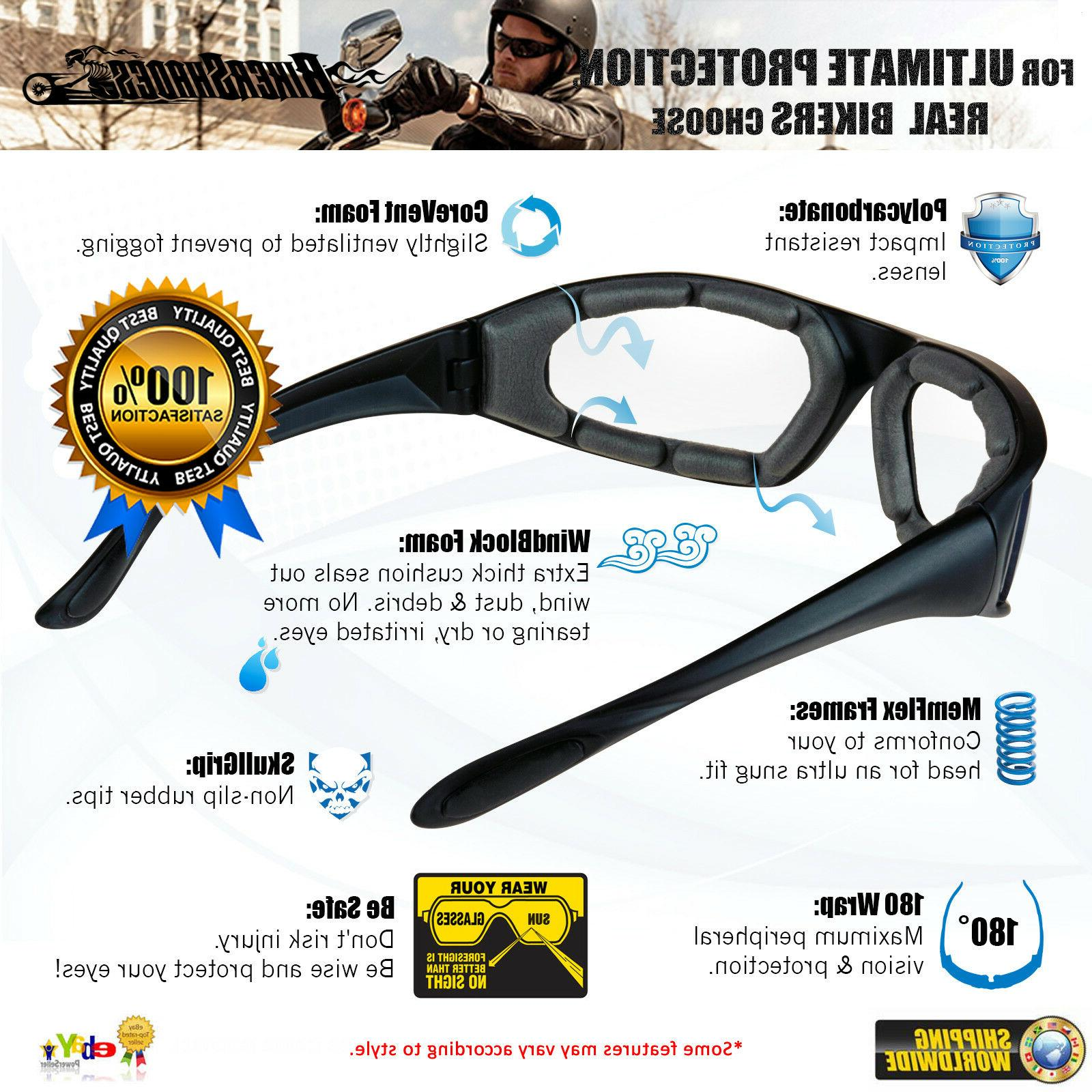 Tactical MOTORCYCLE Biker Goggles Vision Glasses