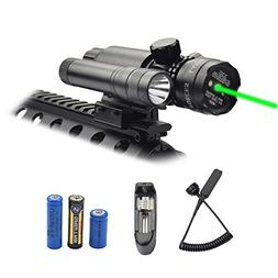 Feyachi Green Laser Sight - 532nm Green Dot sight & Flashlig