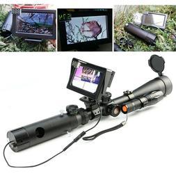 LCD Display Night Vision Scope Lens Add on Rifle Scope w/ IR