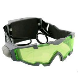 LED Night Vision Goggles Eye shield Green Lens eye protector