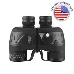 10X50 Binoculars BAK4 With night vision Rangefinder Compass