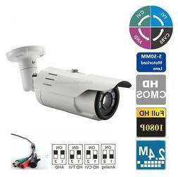 Long Range HDTVI 1080P IR Night Vision Bullet Outdoor Camera