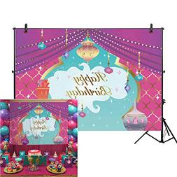 Allenjoy 7x5ft Magic Genie Theme Birthday Backdrop for Cake
