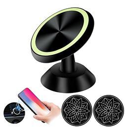 Magnetic Car Phone Mount Holder, Stick On Dashboard Universa