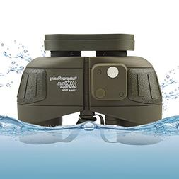 Feyachi 10x50mm Marine Binoculars with Illuminate Compass +