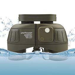 Feyachi 10x50mm Marine Binoculars with Illuminate Compass +