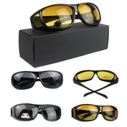 Mens HD Night Vision Driving Glasses Polarized UV400 Sunglas