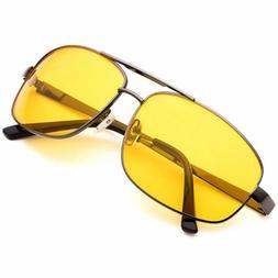 Mens Women Night Vision Sunglasses Anti Glare Lens Driving G