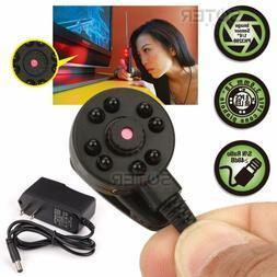 Micro Mini Hidden Audio Spy CCTV Small Color Camera Night Vi