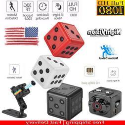 Mini Micro Hidden Camera HD SPY Night Vision Motion Detectio