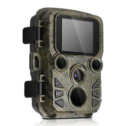 BYbrutek Mini Trail Cameras with Night Vision, 12MP 1080P HD