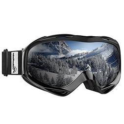 mirrored otg ski goggles black