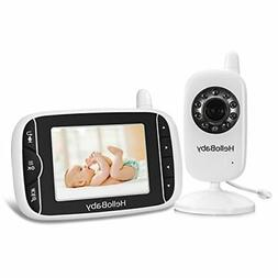 HelloBaby Video Baby Monitor 3.2'' LCD Display Screen with C