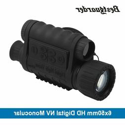 Monocular Goggles GPS LCD Infrared IR Telescope 6x50mm HD Di