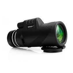 Monocular Telescope, 10X42 Dual Focus Prism Film Optics, Tri