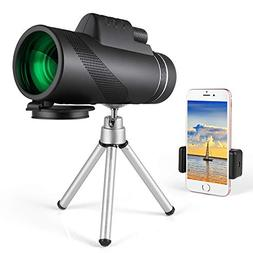 Monocular Telescope, Dual Focus 10x42 HD Night Vision Optics