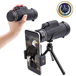 Monocular telescope Dual focus Prism Night Vision waterproof