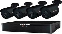 NEW NIGHT OWL 8-CHANNEL 1TB HDD DVR + 4 WIRED CAMERAS 1080P