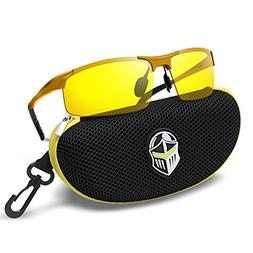 BLUPOND Night Driving Glasses - Semi Polarized Yellow Tint H