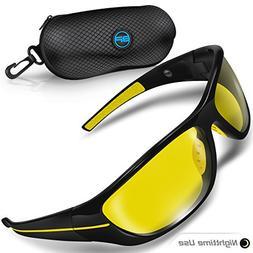BLUPOND Night Driving Glasses for Men/Women - Semi Polarized