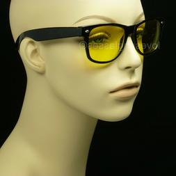 Night driving glasses men women sunglasses vision yellow len