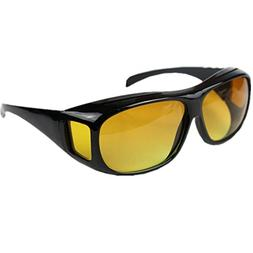 ClearVision HD Night Optics Wraparound Glasses Yellow