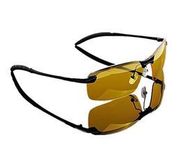 Mcolics Night View Driving Glasses for Men Women Anti Glare