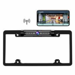 Digital Wireless Car Rear View Backup License Plate Frame Ca
