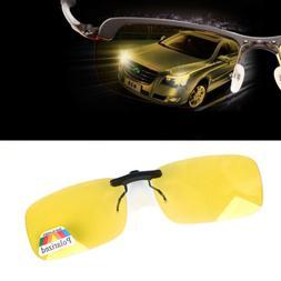 Night Vision Anti Glare Polarized Clip On Driving Glasses Su