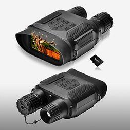 Night Vision Binoculars 1300ft/400M Viewing Range, with 3.5-