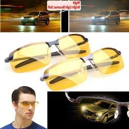 Night Vision Driving HD Glasses Yellow Lens Mens Polarized C